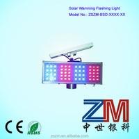 Four Module LED Flashing Solar warning light/ Solar traffic flasher