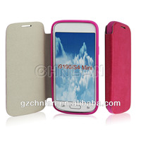 Foldable leather flip case for Sumsung Galaxy S4 mini I9190