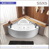 Corner Sitting Whirlpool Bathtub for Double (TMB033)