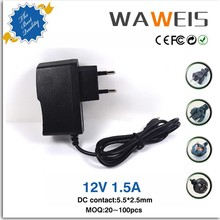 wall plug switching power supply 12v dc 0.5-2.5a adapter for led light