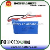 2015 newest rechargeable li-polymer battery 7.4v 850mah lipo battery 25C 703048 for RC toys