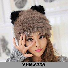 New Fashion Winter Woman's Lovely beanie Cute animals ears rabbit Fur Hat