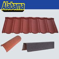 Earthquake resistance red corrugated roofing sheet, brown color metal roof tile
