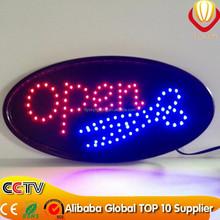 alibaba express new LED products high quality & hot sale OEM 10*19 inch OVAL led open sign super bright & catching eyes
