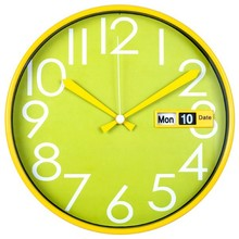 "12"" mail order home decorations plastic auto flip calendar wall clock / wall watch"