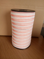 20mm white polytape with pink edge 200m one roll