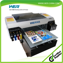 CE approved 3D effect 90*42cm small size UV flatbed printer ceramic tiles inkjet printing machine with white ink