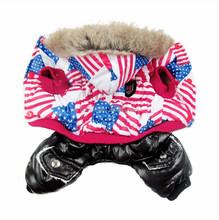 North Europe Style Luxury Windcoat Fabric America Flag Print Soft Pet Garment Dog Clothes