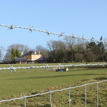 High tensile cattle fence with farm fencing wire stock fence
