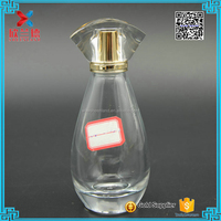 100ml teardrop shaped high white perfume glass container