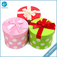 Christmas small round dot print paper box,fancy paper box