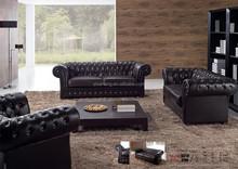 Noble Italian Top Grain Leather Chesterfield Sofa