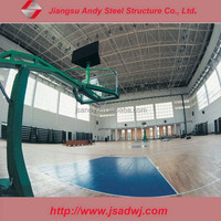 Light metal warehouse steel space frame building, prefab steel building