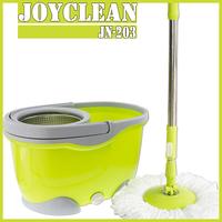 Joyclean Stainless Steel Basket Microfiber Spin Mop