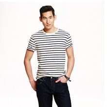 Wholesale New Cotton casual style comfortable Men's Striped T-shirt