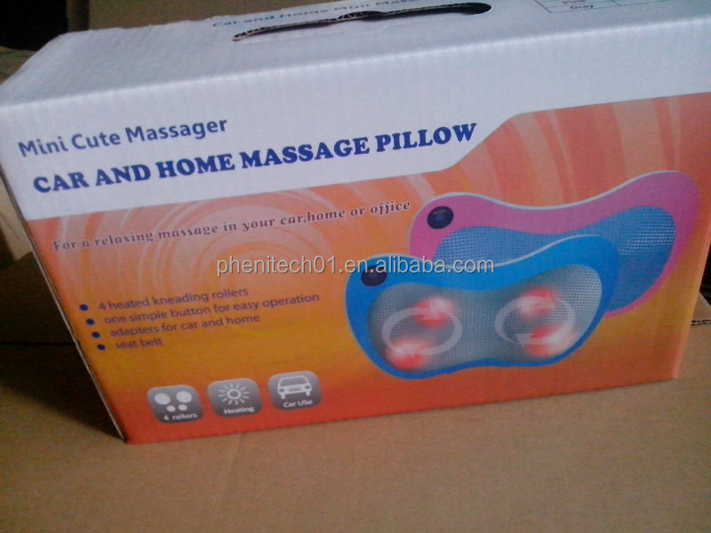 Comfortable portable cute car use massager pillow