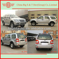 Chinese four wheel drive diesel engine LHD SUV as good as korean suv car for assembling in Africa