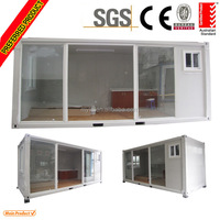 living prefab container homes with glass door For Holiday villiage or shop