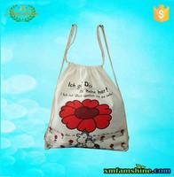 eco natural printed cotton sling bag