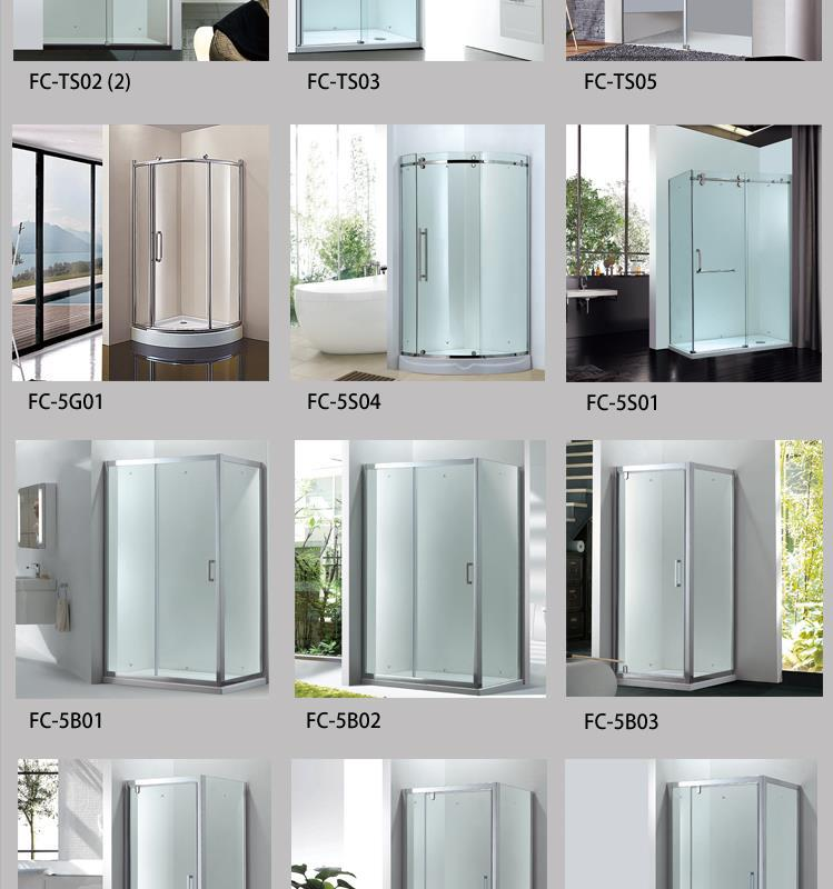 Fico Fc-5j19,Frameless Tempered Glass Shower Cubicles Enclosure Sri ...