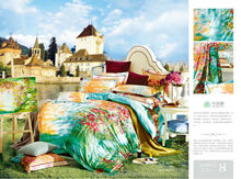 Hot sale bed sheet new design elegant flower printing colorful high quality bed sheet/ bed cover set