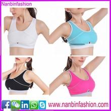 2015 new styleu neck cross over sports bra in sstock