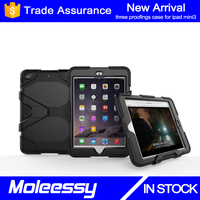 3 in 1 impact resistant tablet case for iPad Mini, for iPad Mini 3/2/1 waterproof case with built-in screen protector
