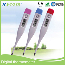 Precisión médica Sensor de lectura rápida pantalla LCD eléctrica Flexible termómetro Digital termómetro Digital con piezas