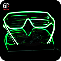 Christmas Ornaments Glow In The Dark Neon Shutter Shades For 2015 EL Wire Shutter Party Sunglasses