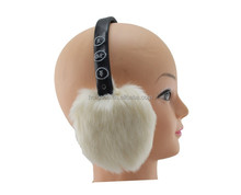 Winter fur earmuff headphones wireless