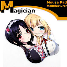 latest design beautiful sex great quality cheap 3d breast shaped mouse pad