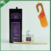 Small MOQ Rattan Reed Fragrance Diffuser in Luxury Handmade Drawer Box with Customized Lable
