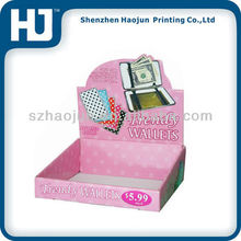 Promotion Wallet display box with corrugated board