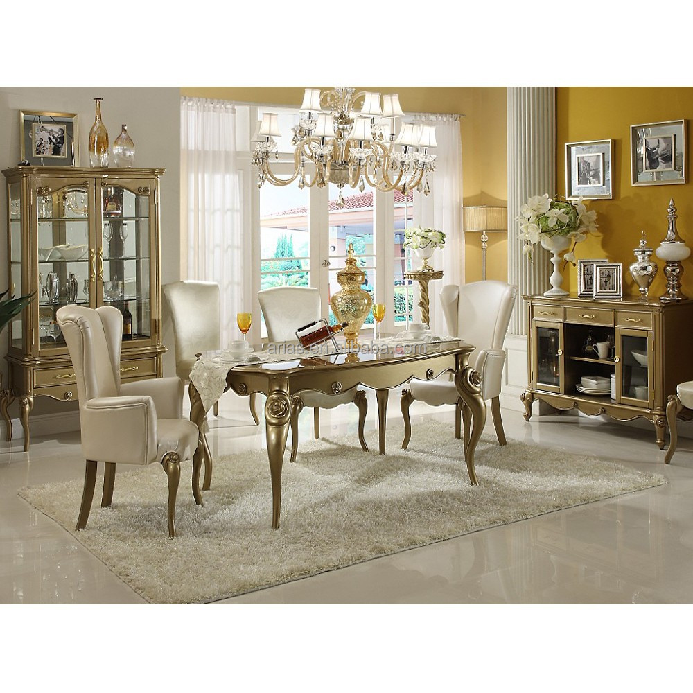 High quality 5417 classic italian dining room sets buy for Breakfast room sets