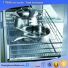 Popular 410*640*140 stainless steel pull out wire basket, kitchen magic corner storage, kitchen cabinet pull out basket
