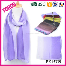 Wholesale Solid Color 100% polyester Scarf
