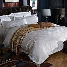 4 star hotel popular style jacquard cotton percale hotel bedding set