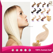 prebonded hair double drawn remy human hair U tip/Flat tip/I tip hair extensions Wholesale Keratin Flat Tip Hair extension