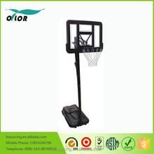 Height adjustable movable portable from 2.30m to 3.05m basketball stand for outdoor training