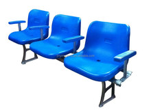 Cheap Aluminum allo 3-seater outdoor plastic football stadium seat