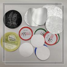 aluminum foil heat seal lid for refilling /sealing nespresso,k-cup ,lavazza capsules/pod
