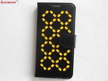 Flashing Diamond Skeleton PU Phone Case for Galaxy Note 3 Note 4