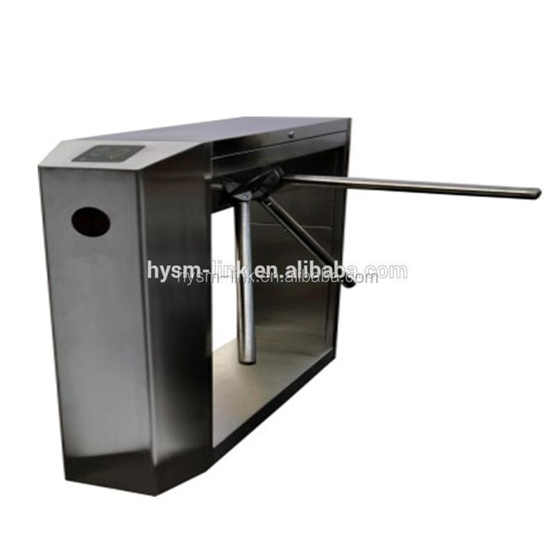 Security electronic tripod gate turnstile arm