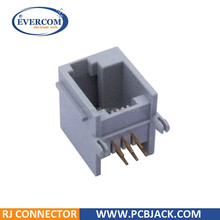 Side Entry / Right Angle 6P6C RJ11 Modular Jack Left Latch Panel Stops