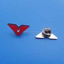 red color star sport collar pins wholesale,star brooch with butterfly