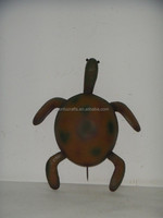 Cheap and high quality black iron metal tortoise decoration