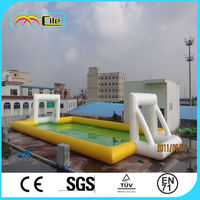 CILE Newest Arrival Inflatable Water Soccer Pitch Playground for Adult and Kids