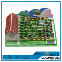 2015 new design diy game house model toys 3d paper puzzle