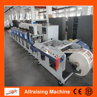 High Speed Roll to Roll 6 Color PVC/PE/BOPP Film Flexo Printing Machine Price