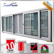 2015 popular AS2047 standard aluminium frame sliding glass window with 30-year longevity